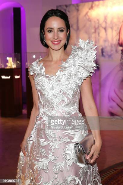 Stefanie Stumph during the Semper Opera Ball 2018 reception at Hotel Taschenbergpalais near Semperoper on January 26 2018 in Dresden Germany