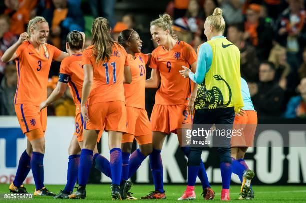 Stefanie van der Gragt of the Netherlands Sherida Spitse of the Netherlands Lieke Martens of The Netherlands Lineth Beerensteyn of The Netherlands...