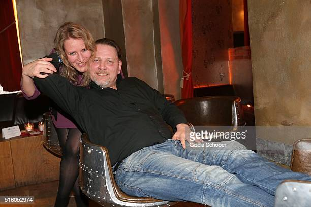 Stefanie von Poser and Michael Jaeger during the NdF after work press cocktail 2016 at Park Cafe on March 16 2016 in Munich Germany