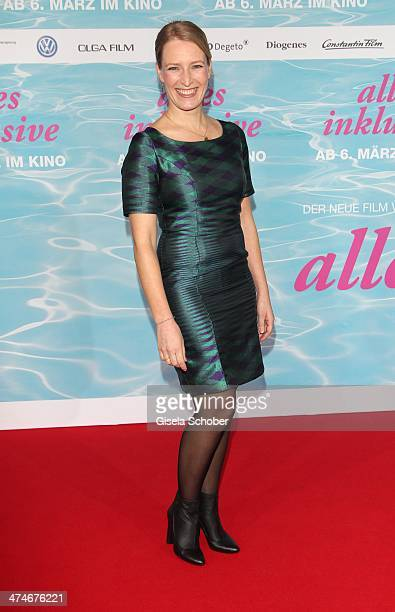 Stefanie von Poser attends the German premiere of the film 'Alles Inklusive' at Mathaeser Filmpalast on February 24 2014 in Munich Germany