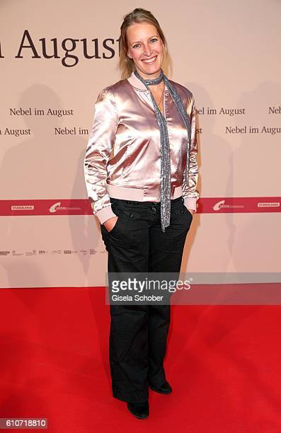 Stefanie von Poser during the premiere of the film 'Nebel im August' at City Kino on September 27 2016 in Munich Germany