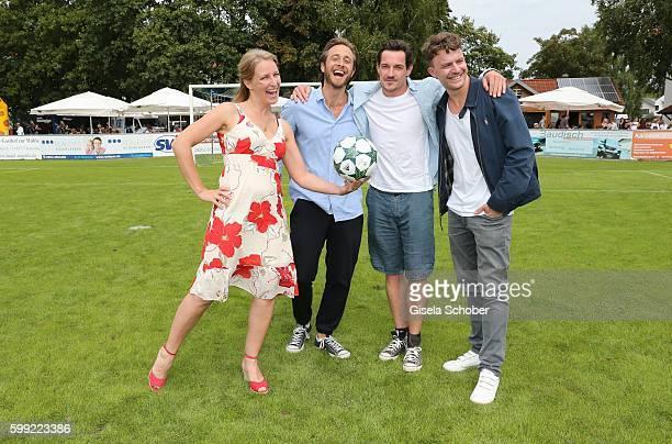 Stefanie von Poser Gabriel Raab Markus Brandl and Friedrich Muecke during the charity football game 'Kick for Kids' to benefit 'Die Seilschaft...