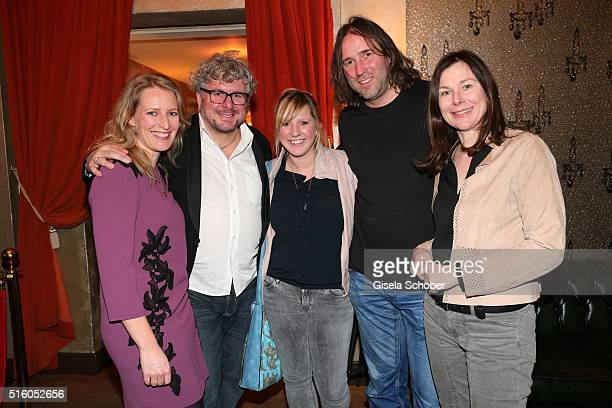 Stefanie von Poser Moses Wolff Claudia Koreck Roland Hefter and Bettina Mittendorfer during the NdF after work press cocktail 2016 at Park Cafe on...