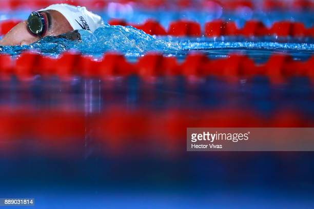 Stefanny Cristino of Mexico competes in Women's 400 m Freestyle S10 during day 6 of the Para Swimming World Championship Mexico City 2017 at...