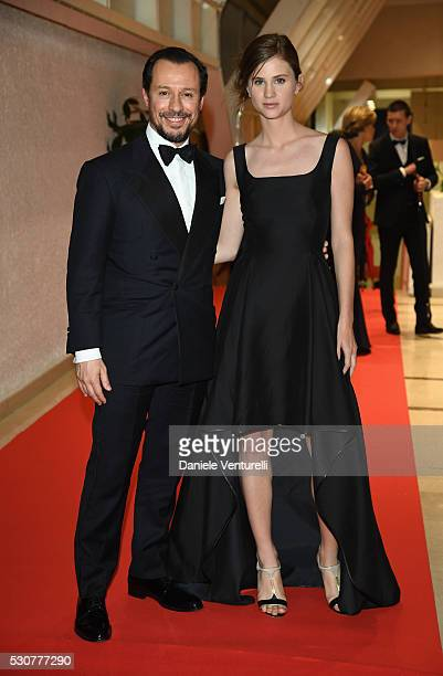 Stefano Accorsi and Bianca Vitali arrive at the Opening Gala Dinner during The 69th Annual Cannes Film Festival on May 11 2016 in Cannes France