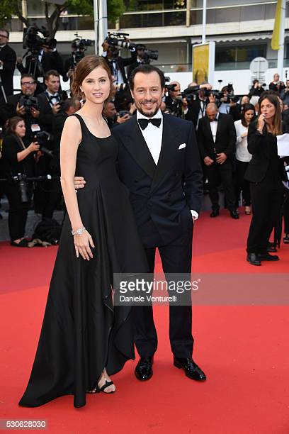 Stefano Accorsi and Bianca Vitali attend the 'Cafe Society' premiere and the Opening Night Gala during the 69th annual Cannes Film Festival at the...