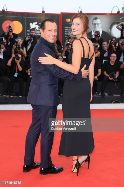 Stefano Accorsi and Bianca Vitali walks the red carpet ahead of the The Laundromat screening during the 76th Venice Film Festival at Sala Grande on...