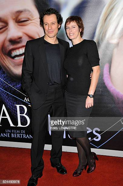 Stefano Accorsi and Karine Viard attend the premiere of Baby Blues in Paris