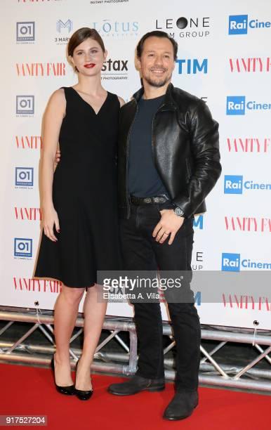 Stefano Accorsi and wife Bianca Vitali attend 'A Casa Tutti Bene' premiere on February 12 2018 in Rome Italy