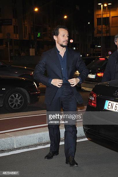 Stefano Accorsi arrives at Sky Atlantic Presents Game Of Thrones on April 3 2014 in Milan Italy