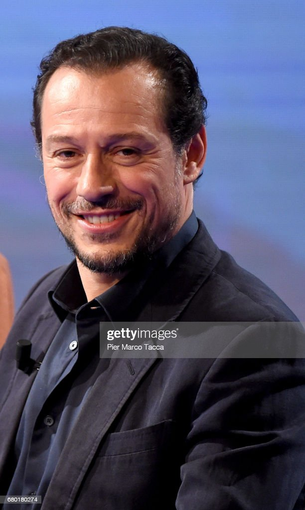 Stefano Accorsi attends 'Che Tempo Che Fa' tv show at Rai Milan Studios on May 7, 2017 in Milan, Italy.