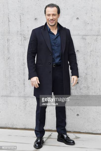 Stefano Accorsi attends the Giorgio Armani show during Milan Fashion Week Fall/Winter 2018/19 on February 24 2018 in Milan Italy