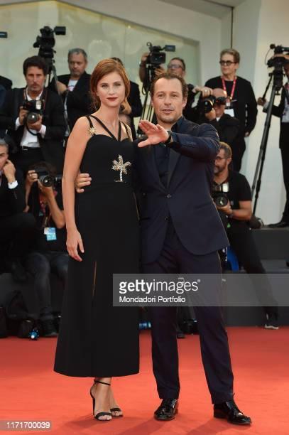 Stefano Accorsi Bianca Vitali at the 76 Venice International Film Festival 2019 The Laundromat red carpet Venice September 1st 2019