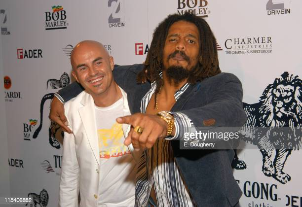 Stefano Aldighieri designer and Rohan Marley during Tuff Gong Clothing Launch Party Hosted by Rohan Marley and and Stefano Aldighieri at Drive In...