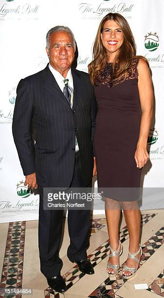 Stefano Capriati and his daughter former tennis player Jennifer Capriati attend the International Hall Of Fame Legends Ball 2012 at Cipriani 42nd...
