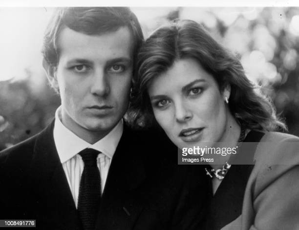 Stefano Casiraghi and Caroline Princess of Hanover circa 1982 in New York