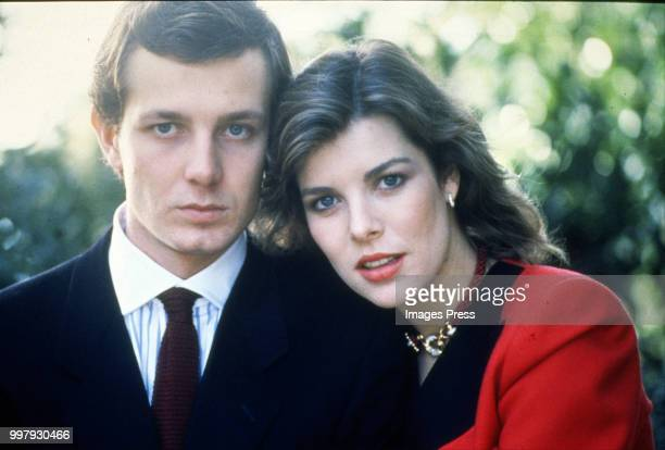 Stefano Casiraghi and Caroline, Princess of Hanover circa 1982 in New York.