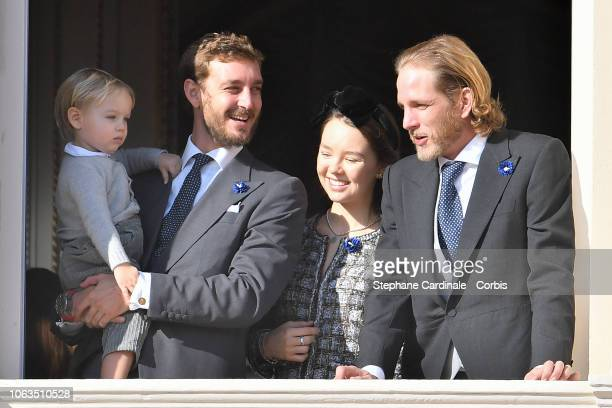 Stefano Casiraghi Pierre Casiraghi Princess Alexandra of Hanover and Andrea Casiraghi attend Monaco National Day Celebrations on November 19 2018 in...