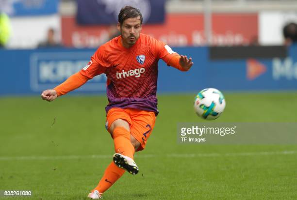 Stefano Celozzi of Bochum am Ball controls the ball during the Second Bundesliga match between MSV Duisburg and VfL Bochum at SchauinslandReisenArena...