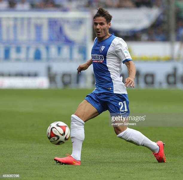 Stefano Celozzi of Bochum controls the ball during the Second Bundesliga match between VfL Bochum and SpVg Greuther Fuerth at Rewirpower Stadium on...