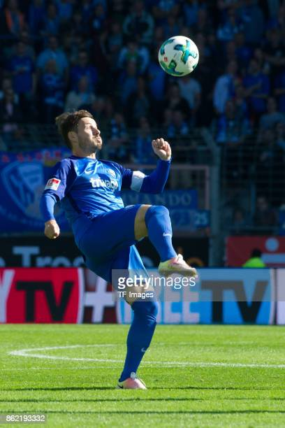 Stefano Celozzi of Bochum controls the ball during the Second Bundesliga match between VfL Bochum 1848 and SV Sandhausen at Vonovia Ruhrstadion on...