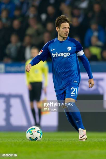 Stefano Celozzi of Bochum controls the ball during the Second Bundesliga match between VfL Bochum 1848 and Fortuna Duesseldorf at Vonovia Ruhrstadion...