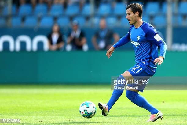 Stefano Celozzi of Bochum runs with the ball during the preseason friendly match between VfL Bochum and Borussia Dortmund at Vonovia Ruhrstadion on...