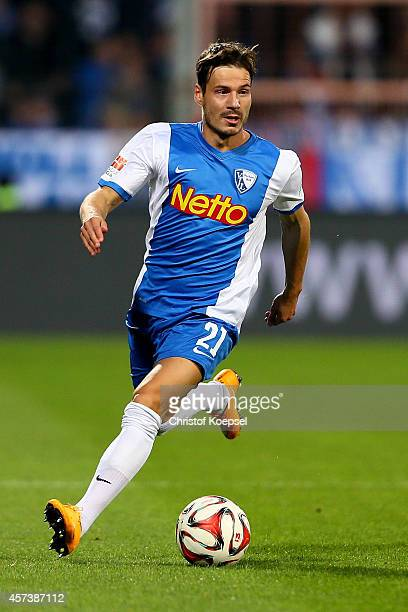 Stefano Celozzi of Bochum runs with the ball during the Second Bundesliga match between VfL Bochum and Darmstadt 98 at Rewirpower Stadion on October...