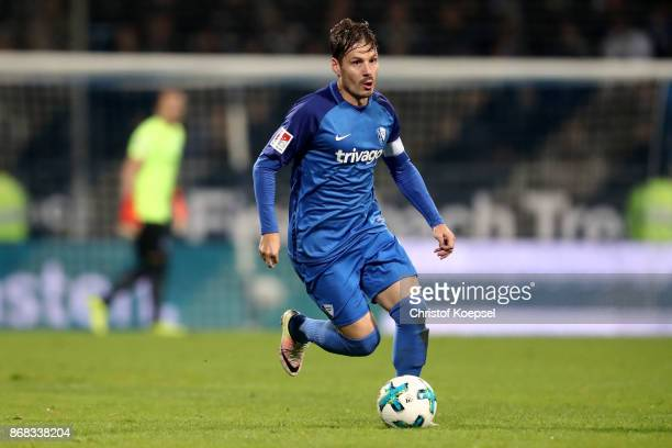 Stefano Celozzi of Bochum runs with the ball during the Second Bundesliga match between VfL Bochum 1848 and Fortuna Duesseldorf at Vonovia...