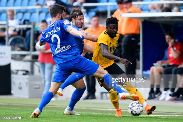 Stefano Celozzi of VfL Bochum and Bright Enobakhare of Wolverhampton Wanderers battle for the ball during the HHotels Cup match between VfL Bochum...