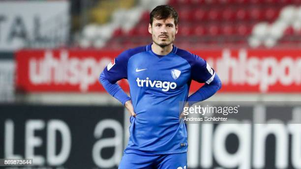 Stefano Celozzi of VFL Bochum during the Second Bundesliga match between 1 FC Kaiserslautern and VfL Bochum 1848 at FritzWalterStadion on November 3...