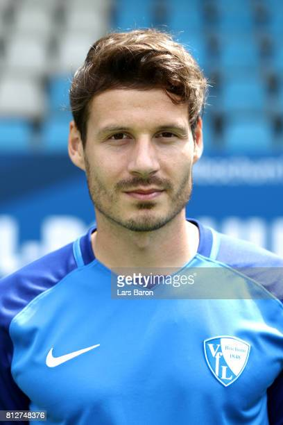 Stefano Celozzi of VfL Bochum poses during the team presentation at Vonovia Ruhrstadion on July 11 2017 in Bochum Germany