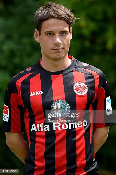 Stefano Celozzi poses during Eintracht Frankfurt Team Presentation on July 12 2013 in Frankfurt am Main Germany