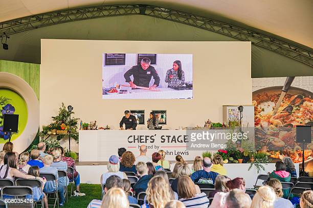 Stefano Corvuccio performs at cooking demonstration during OnRoundhay Festival 2016 on September 17, 2016 in Leeds, England.