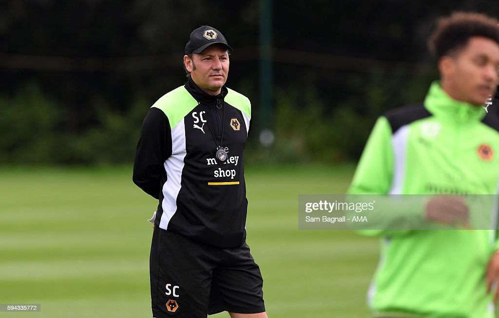Stefano Cusin assistant manager / assistant head coach of Wolverhampton Wanderers during a training session at Compton on August 22, 2016 in Wolverhampton, England.