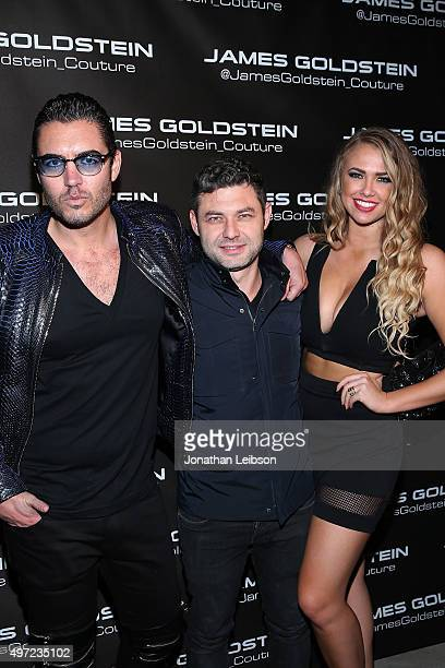 Stefano D'ambrosio and Pavel Krapivin attend Ugo Mozie Celebrate's His Birthday With James Goldstein Couture on November 14 2015 in Beverly Hills...