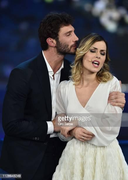 Stefano De Martino Fatima Trotta attends the Made In Sud TV Show on March 4 2019 in Naples Italy
