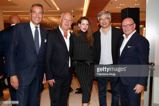 Stefano Della Valle Vittorio Radice Julia Malik Tos Chirathivat and Andre Maeder during the grand opening of the new Oberpollinger ground floor...