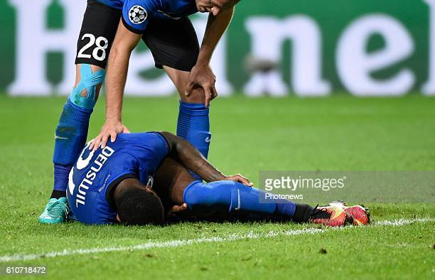 Stefano Denswil defender of Club Brugge Laurens De Bock defender of Club Brugge looks dejected pictured during UEFA Champions League Group G stage...