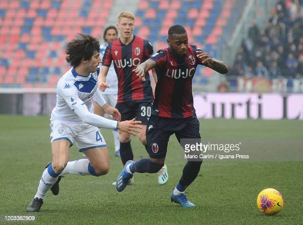 Stefano Denswil of Bologna FC in action during the Serie A match between Bologna FC and Brescia Calcio at Stadio Renato Dall'Ara on February 01 2020...