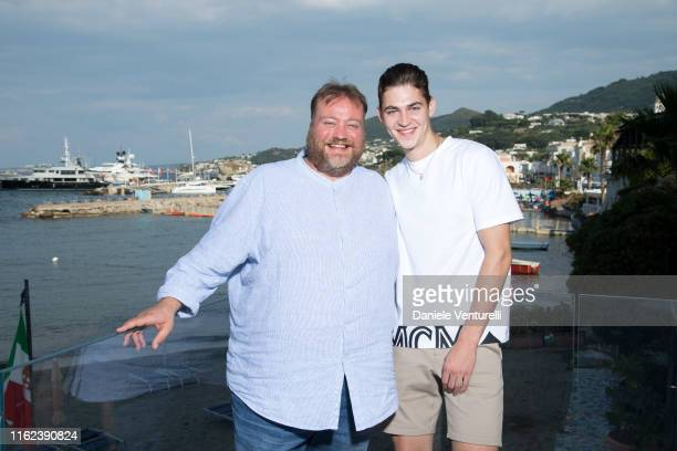 Stefano Fresi and Hero Fiennes Tiffin attend 2019 Ischia Global Film & Music Fest on July 16, 2019 in Ischia, Italy.