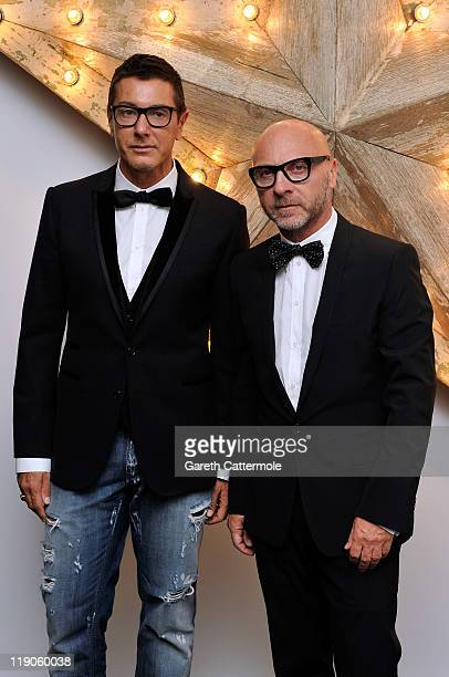 Stefano Gabbana and Domenico Dolce attend a party for Dolce And Gabbana hosted by NetaPorter at Westfield on July 14 2011 in London England