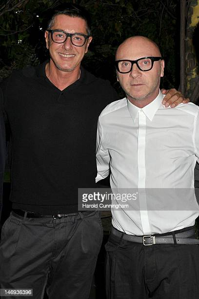 Stefano Gabbana and Domenico Dolce attend the DETAILS magazine cocktail party at Bulgari Hotel hosted by Dan Peres and Kevin Martinez to celebrate...