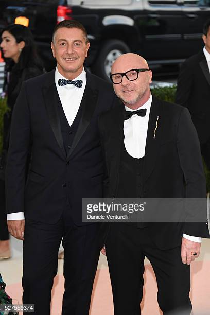 Stefano Gabbana and Domenico Dolce attend the 'Manus x Machina: Fashion In An Age Of Technology' Costume Institute Gala at the Metropolitan Museum on...