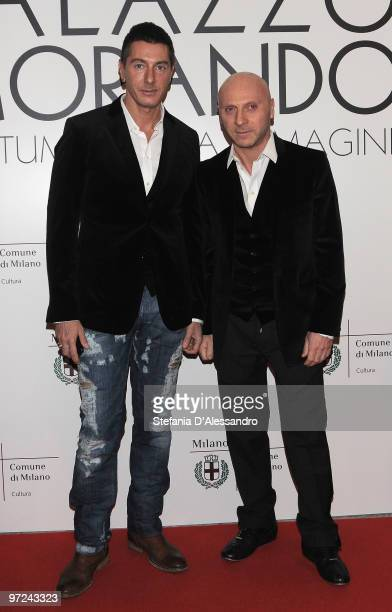 Stefano Gabbana and Domenico Dolce attend the opening of new exhibition space at Palazzo Morimondo dedicated to fashion and costume on March 1 2010...