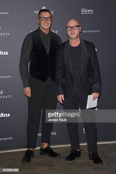 Stefano Gabbana and Domenico Dolce attend Vogue Italia 50th Anniversary during Milan Fashion Week Womenswear Spring/Summer 2015 on September 21 2014...