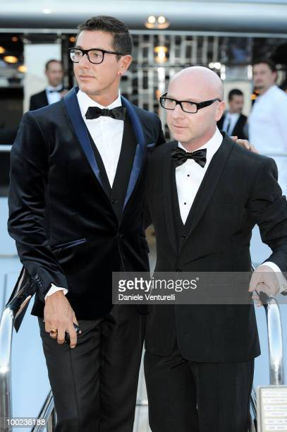 Stefano Gabbana and Domenico Dolce depart for Naomi Campbell's birthday party during the 63rd Annual International Cannes Film Festival on May 22...