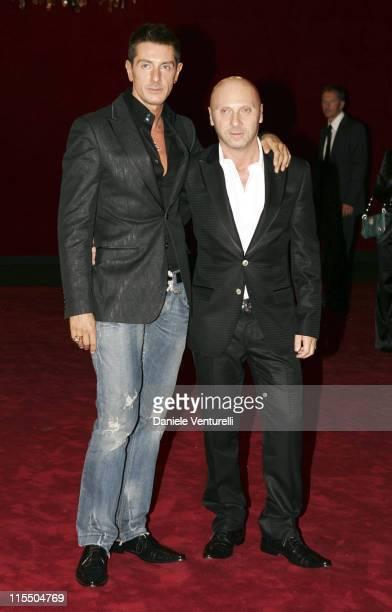 Stefano Gabbana and Domenico Dolce during Dolce Gabbana 20th Anniversary in Milano Italy