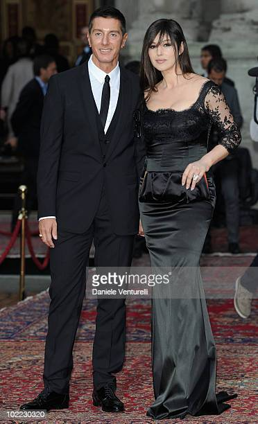 Stefano Gabbana and Monica Bellucci attend the Dolce Gabbana 20 Years of Menswear during Milan Fashion Week Spring/Summer 2011 on June 19 2010 in...