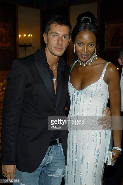 Stefano Gabbana and Naomi Campbell Naomi Campbell wore a exclusive black and white diamond set from the Haute Joaillerie collection and the new...